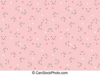 Seamless Baby Pattern with Animal Character