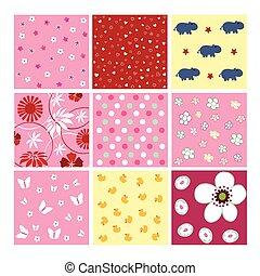 Seamless baby plaid pattern