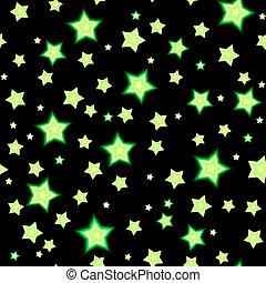 Seamless bacgkround with cartoon fluorescent stars