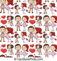 seamless, baciare coppie, e, abbracciare