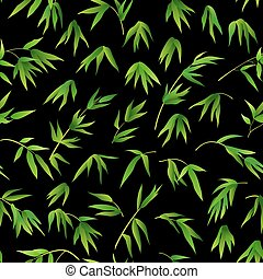 Seamless Background, Bamboo Leaves - Exotic Seamless...