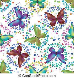 Seamless background, butterflies - Seamless background,...