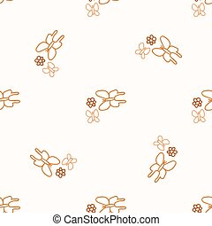 Seamless background butterfly gender neutral pattern. Whimsical minimal earthy 2 tone color. kids nursery wallpaper or boho cartoon insect fashion.