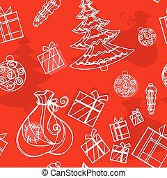 seamless background christmas set
