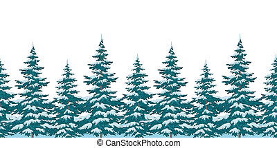 Seamless background, Christmas trees
