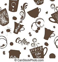 Seamless background coffee hand drawn