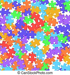 Seamless background colored puzzles.