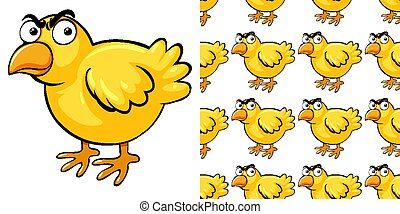 Seamless background design with little chick