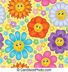 Seamless background flower topic 1