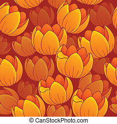 Seamless background flowery topic 1 - eps10 vector...