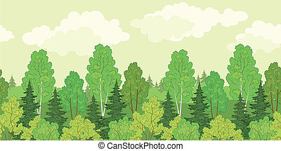Seamless background, forest