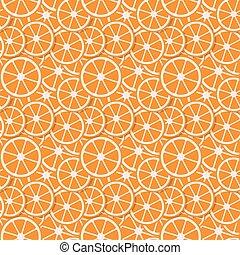 seamless background  fresh orange in flat style.