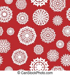 Seamless background from a set of snowflakes, vector illustration.