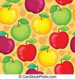 Seamless background fruit theme 1