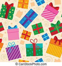 Seamless background gift theme 1