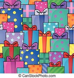 Seamless background gift theme 5