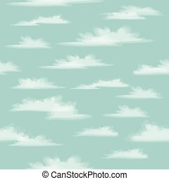 Seamless background illustration with clouds