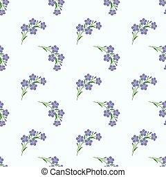 Seamless background image colorful botanic flower leaf plant light purple forget me not