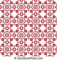 Seamless background image of cross round vintage red flower