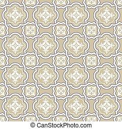 Seamless background image of curve cross frame flower kaleidoscope