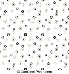 Seamless background image of cute daisy flower pattern.