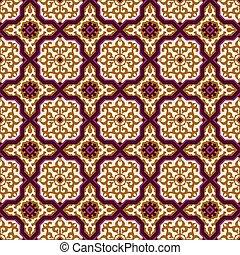 Seamless background image of elegant purple cross Islam pattern.