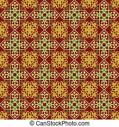 Seamless background image of red cross flower pattern.