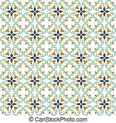 Seamless background image of spiral curve cross kaleidoscope