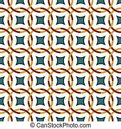 Seamless background image of vintage cross round geometry pattern.