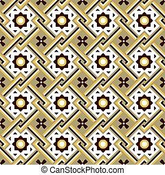 Seamless background image of vintage cross square frame flower pattern.