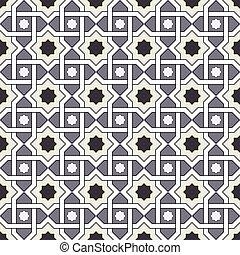 Seamless background image of vintage cross star geometry frame pattern.
