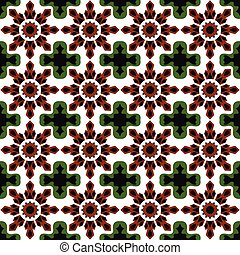 Seamless background image of vintage crystal geometry kaleidoscope pattern.