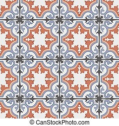 Seamless background image of vintage curve spiral cross kaleidoscope