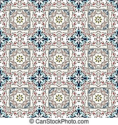 Seamless background image of vintage elegant flower kaleidoscope pattern.