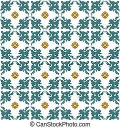 Seamless background image of vintage flower kaleidoscope geometry pattern.