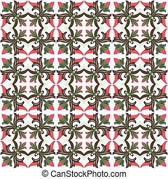 Seamless background image of vintage flower vine pattern pattern.