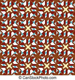 Seamless background image of vintage kaleidoscope geometry pattern.