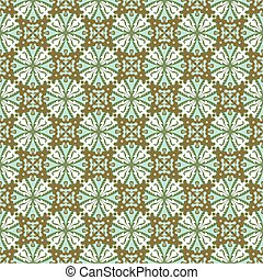 Seamless background image of vintage kaleidoscope round cross pattern.