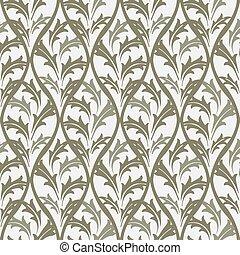 Seamless background image of vintage nature leaf cross
