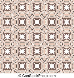 Seamless background image of vintage round cross geometry pattern.