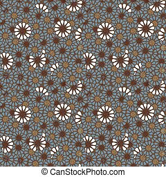 Seamless background image of vintage round flower nature pattern.