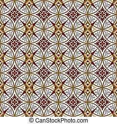 Seamless background image of vintage royal kaleidoscope pattern.