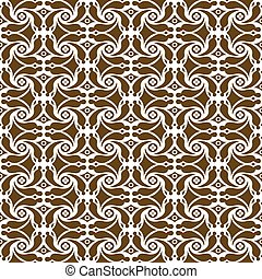 Seamless background image of vintage spiral cross flower kaleidoscope pattern.