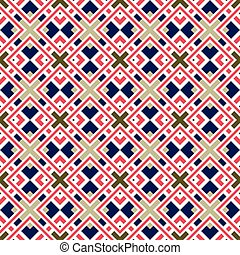 Seamless background image of vintage square frame cross geometry pattern.