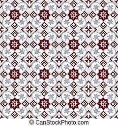 Seamless background image of vintage star kaleidoscope pattern.