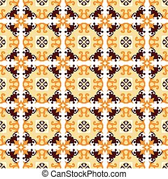 Seamless background image of vintage yellow flower vine pattern.