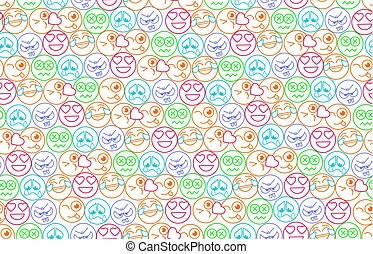 seamless  background in the form of an smiles