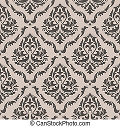 Seamless background in victorian style - Seamless floral...