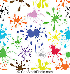 Seamless background ink coloured grungy blot - Seamless...