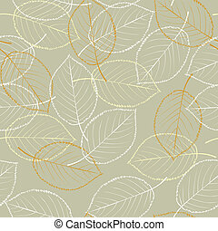 Seamless background leaves